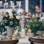 Wedding decoration at beautiful wedding venue