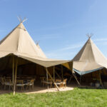marques for wedding reception teepee style